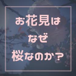 お花見はなぜ桜なのか?